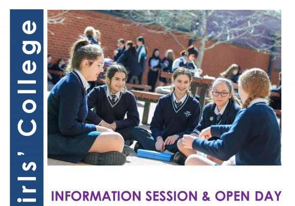 Information Session and Open Day – YEAR 7 2019