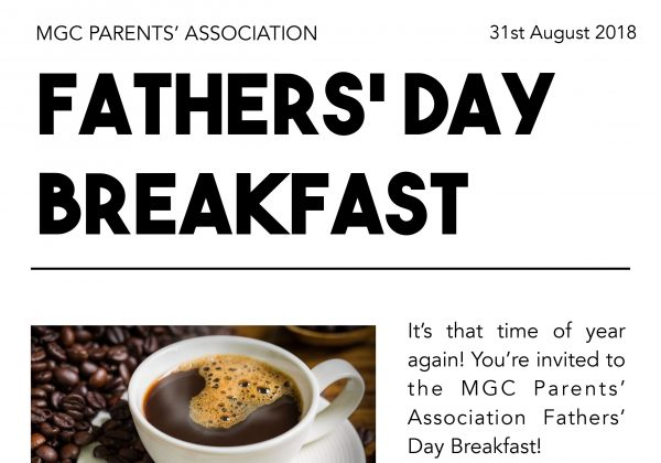MGC Parents' Association invite you to celebrate Fathers' Day.