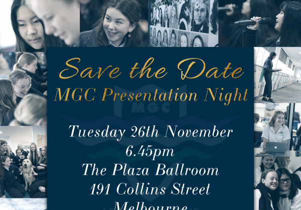 SAVE THE DATE – MGC Presentation Night